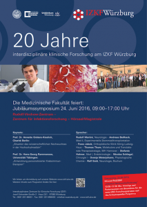 Poster 20 Jahre IZKF Würzburg, Interdisziplinäre Forschung Würzburg, Krebstherapie, Entzündungserkrankungen