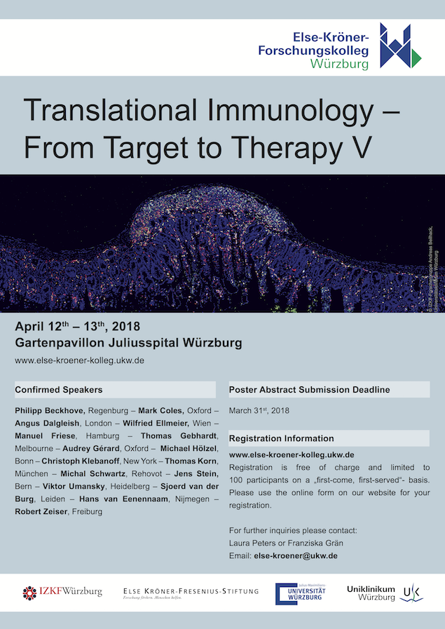 Else-Kröner-Fresenius-Stiftung, Translational Immunology, From Target to Therapy, Würzburg University Hospital, Andreas Beilhack