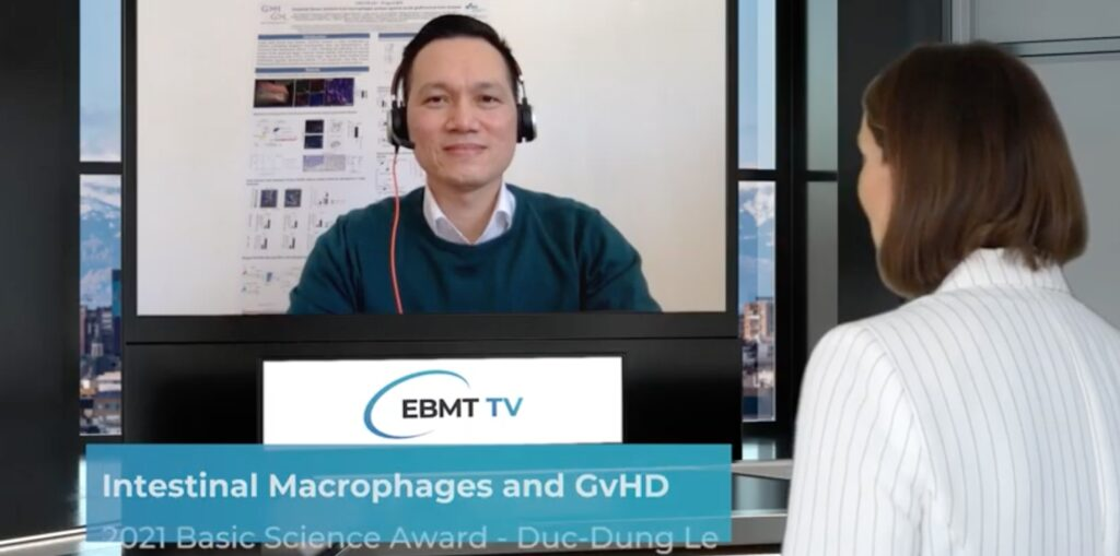 Postdoctoral fellow Dr. Duc Dung Le receives EBMT Basic Science Award 2021 on behalf of the Beilhack lab